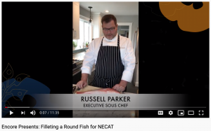 Chef Russell Parker and Round Fish